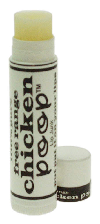 This chicken poop lip balm makes a great fun gift