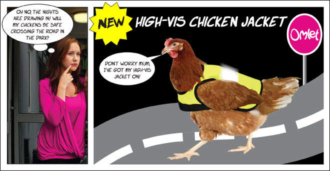 Keep chickens safe when crossing the road!