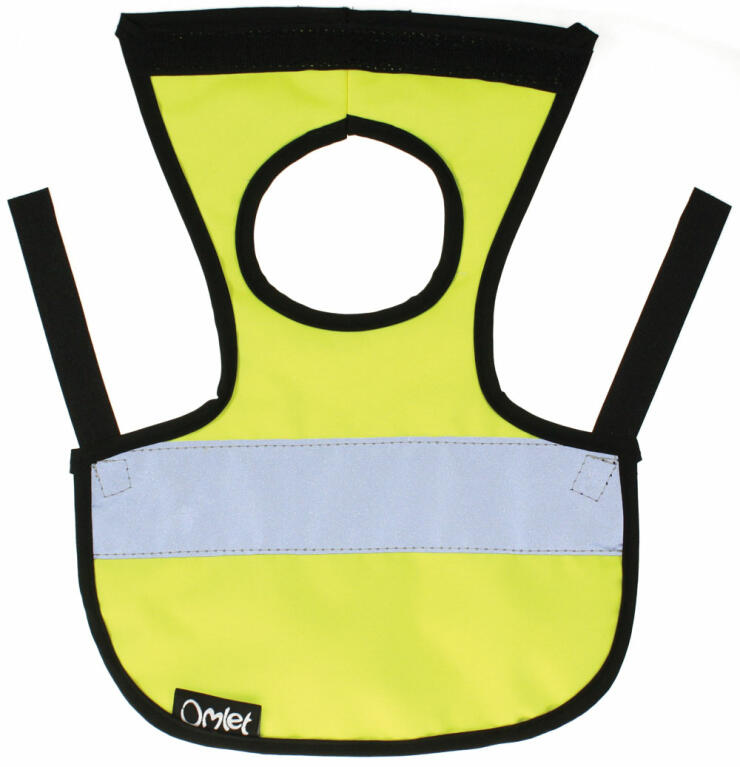 The High-Vis Chicken Jacket will keep your hen safe in the dark!