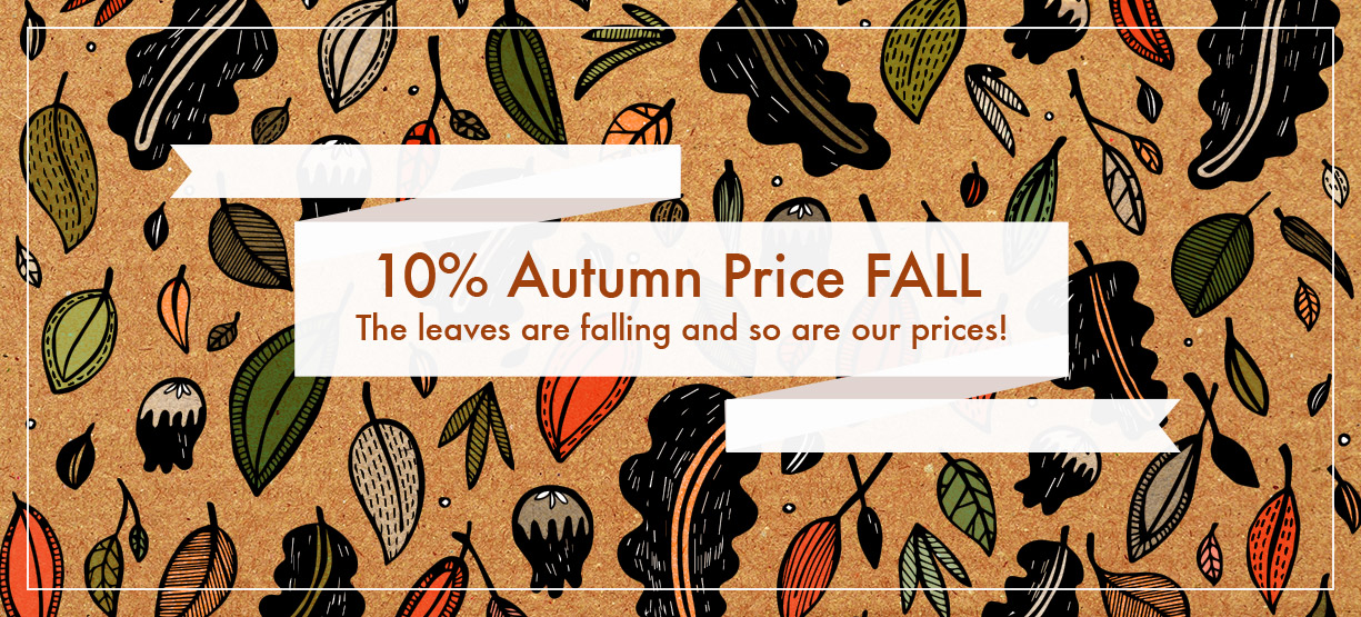 Autumn Price Fall 10% Off Promo Homepage Image Full UK US IE