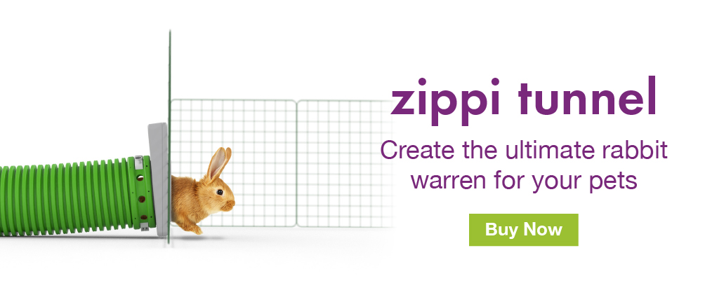 Zippi Rabbit Tunnel System Banner
